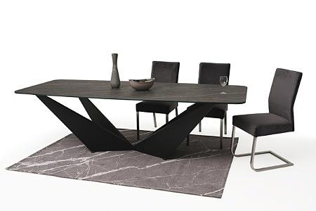 stół ze spieku z nowoczesną czarną nogą 4