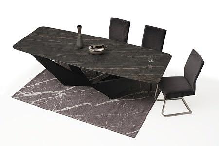 Stół ze spieku z nowoczesną czarną nogą 5