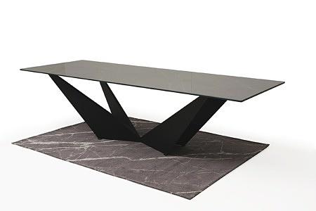 Stół ze spieku z nowoczesną czarną nogą 7