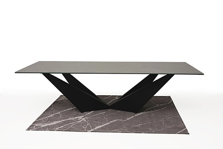 Stół ze spieku z nowoczesną czarną nogą 8