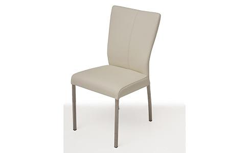 tapicerowane krzesło z metalowymi nogami