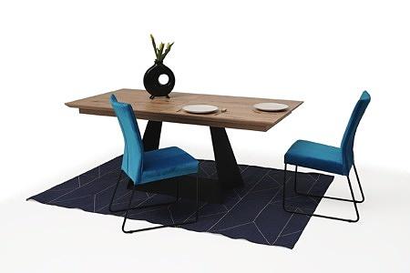 tapicerowane krzesło z metalowymi płozami 06