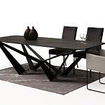 Tapicerowane krzesło z metalowymi płozami z podłokietnikami 11