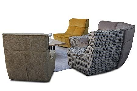 Viva - sofa modułowa z możliwością postawienia na środku salonu i pokoju dziennego