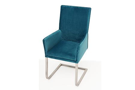 wygodne i ładne krzesło tapicerowane z podłokietnikami