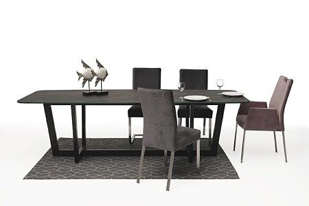 Wygodne krzesło tapicerowane na metalowych nogach08