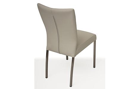Wygodne tapicerowane krzesło z metalowymi nogami