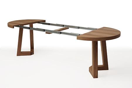 Wygodny okrągły drewniany stół roskładany