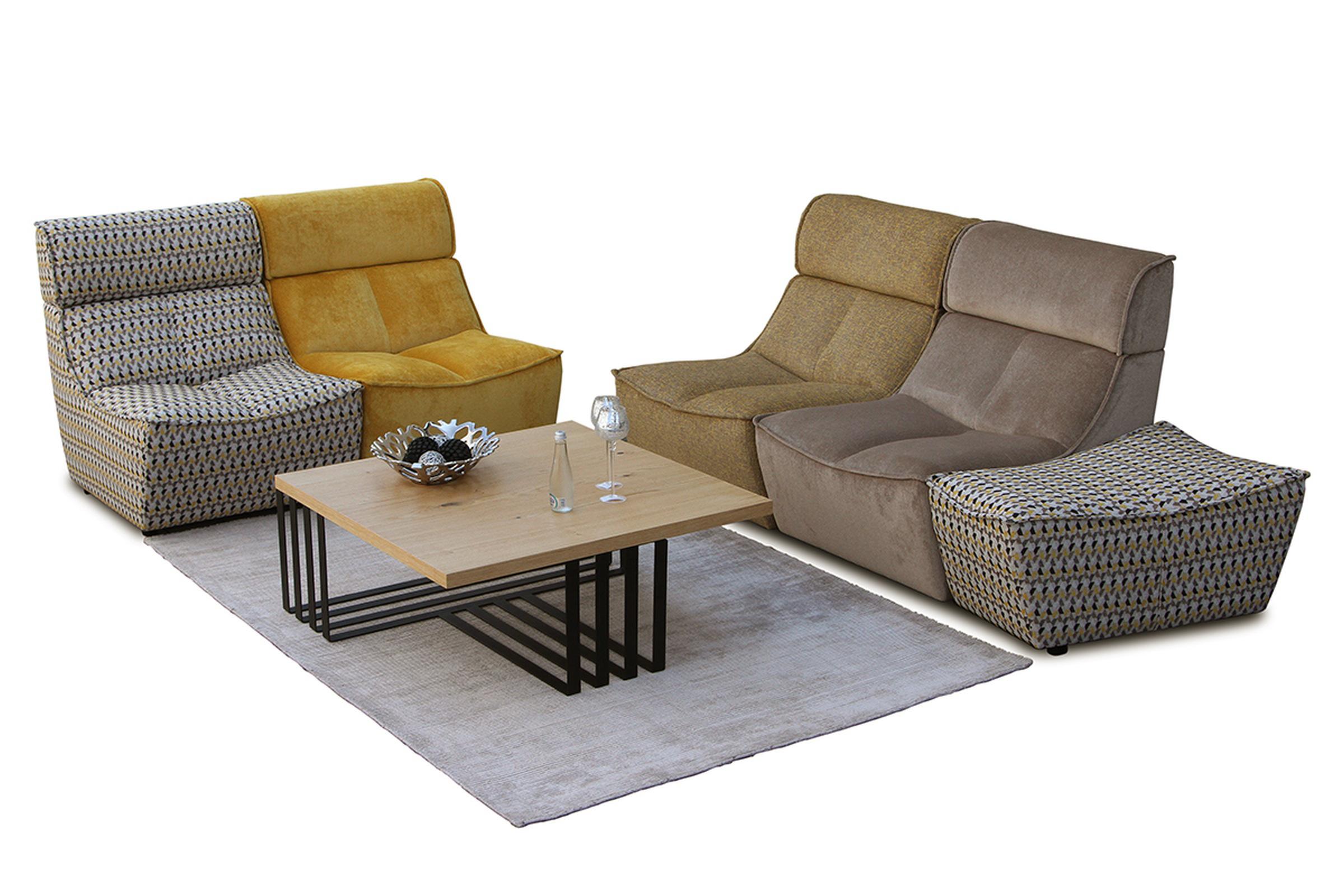 Viva - modułowy komplet wypoczynkowy, kolorówa sofa modułowa