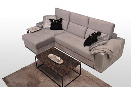 Drift - szary narożnik tapicerowany, pikowane siedziska, kładzione regulowane zagłówki, z funkcją spania typu delfinek i pojemnikiem na pościel, srebrne eleganckie poduszki