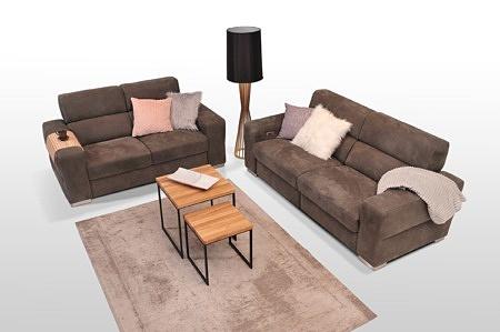 Elegancki komplet wypoczynkowy na niskich metalowych nóżkach - najwyższa elegancja i jakość klasy premium