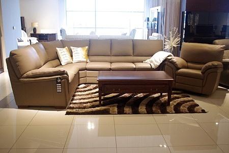 Narożnik skóra brązowa + elegancki fotel skórzany z relaxem