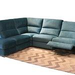 Livio - nowoczesny narożnik turkusowy, z miękkim siedziskiem i oparciami zapewniający wysoki komfort wypoczynku