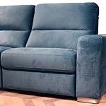 Livio - nowoczesny wygodny wypoczynek w kolorze turkusowym, niebieskim, narożnik z grubymi masywnymi bokami