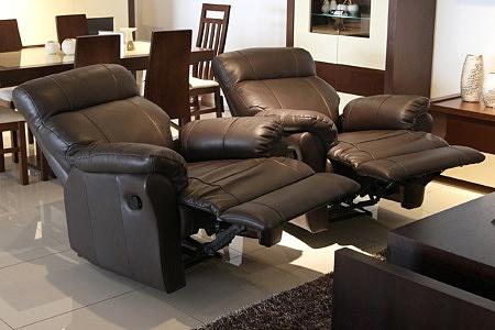 Skórzane fotele z relaksem