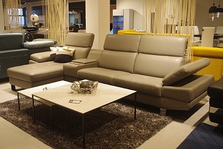 Sofa beżowa skóra