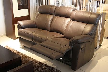 Sofa skórzana z relaksem