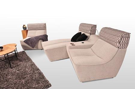 Sofa z osobnych elementów viva materiał obicie dekoma aquaclean