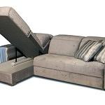 Drift - sofa ze schowkiem na pościel, detal wykonania pojemnika na pościel w module otomany