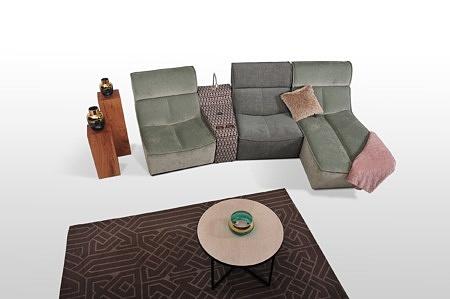 Tkaniny aquaclean wiele konfiguracji modułowe meble tapicerowane polski producent z Dobrodzienia