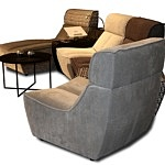 Zestaw modułowy nowoczesnych mebli wypoczynkowych do salonu