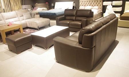 Zestaw wypoczynkowy do salonu brązowy
