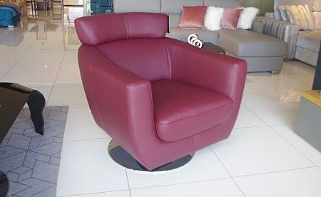 Fotel como bordowy