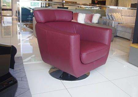 Fotel como bordowy obrotowy