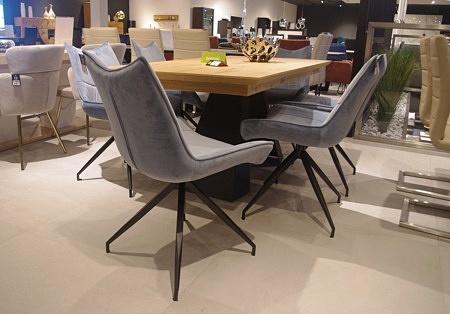 Krzesła do salonu od ręki aksamin