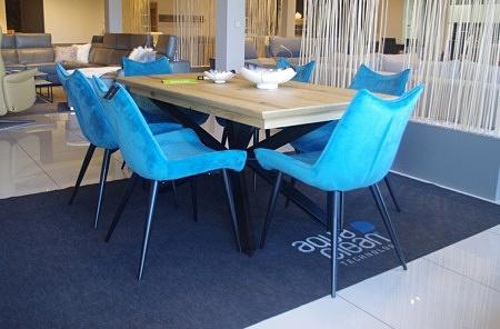 Krzesła niebieskie