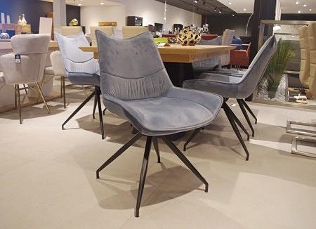 krzesło C7 salon ładne wygodne, nogi metalowe