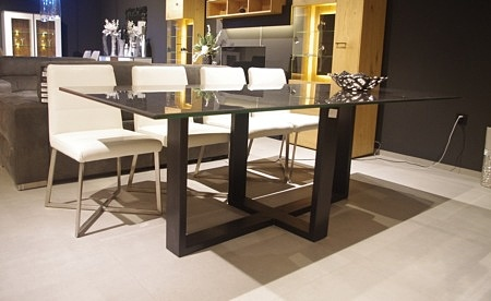 Lyon stół metalowa noga czarna industrialny spiek