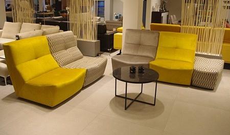 nowoczesne sofy z tkaniny