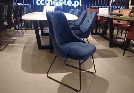 Pikowane glamour krzesło eleganckie
