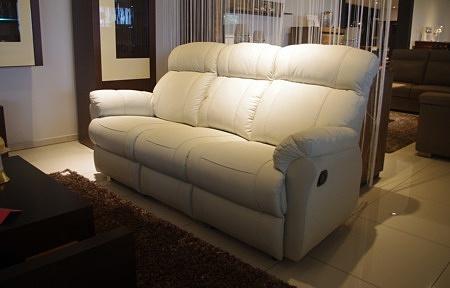 sofa 3-os miękka skóra z relaxami wygodny