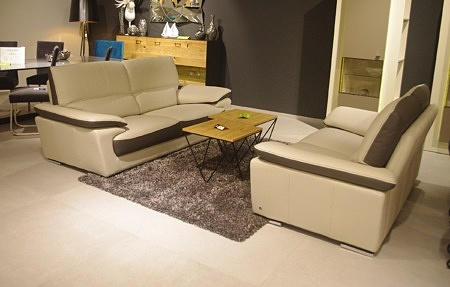 sofa dwukolorowa nowoczesna gruba nić
