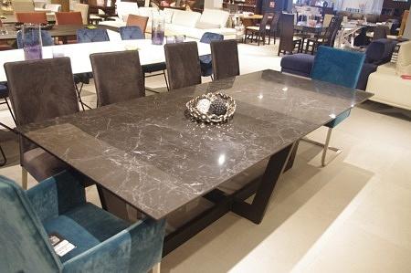 stół z blatem spiek kwarcowy Nero Greco