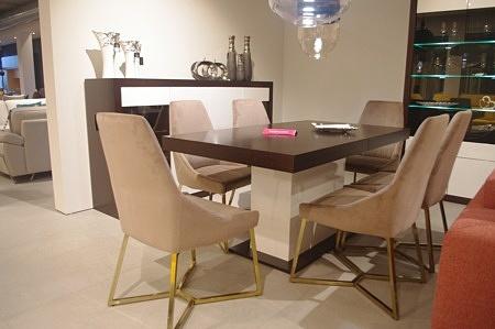 Stół + komoda lakierowana dąb