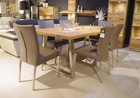 Krzesła salma na nogach metalowych