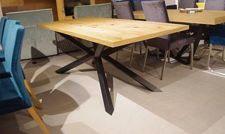 Stół a8 nierozkładany blat fornir sękaty