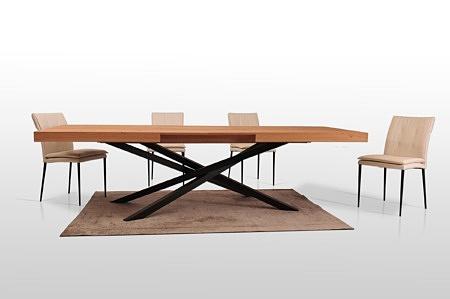 Duży stół do nowoczesnej jadalni loft styl industrialny metalowe nogi z ksztaltownika malowane proszkowo