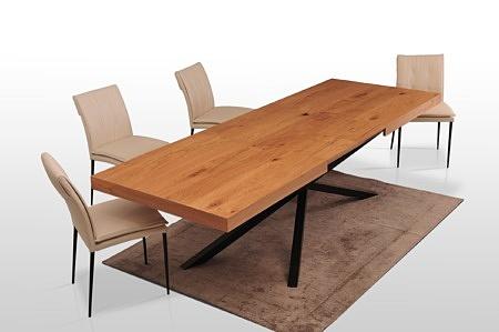 Rozkladany duży stół z dokladkami dąb naturalny kolor mat