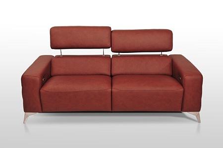 Sofa z regulacją zagłówka delikatny nowoczesny design najwyższa jakość dobrodzień
