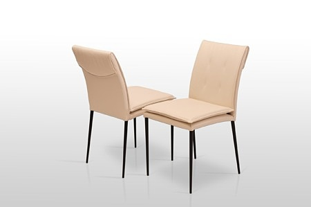 Designerskie krzesła na metalowej nodze delikatny styl nowoczesny
