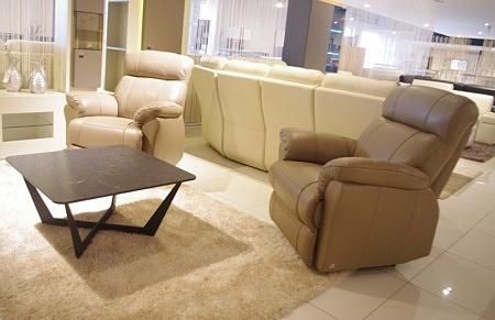 Fotele z relaxem ze skóry