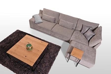 Komfortowy narożnik z poduszkami tkanina decoma łatwe usuwanie plam z wina i kawy
