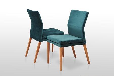 Krzesełka na zamówienie katy velvet na drewnianych nogach dobrze wyprofilowane dekoma