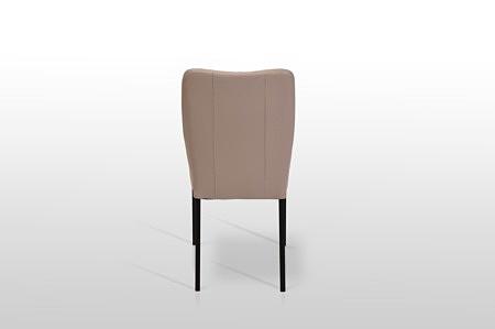 Krzesło simon z grubej włoskiej skóry na metalowych nóżkach czarne lub ze stali nierdzewnej nowość 2020