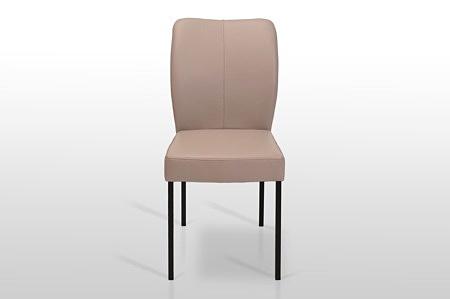 Krzesło simon z przeszyciami z włoskiej skóry lub materiału z technologią aquaclean hiszpańskie materiały