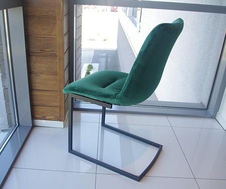 Krzeslo zielona tkanina